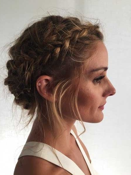 Messy Blonde Updo Hairstyles 500049929 – Braid Hairstyles 2017 Within Best And Newest Braided Updo With Curls (View 12 of 15)