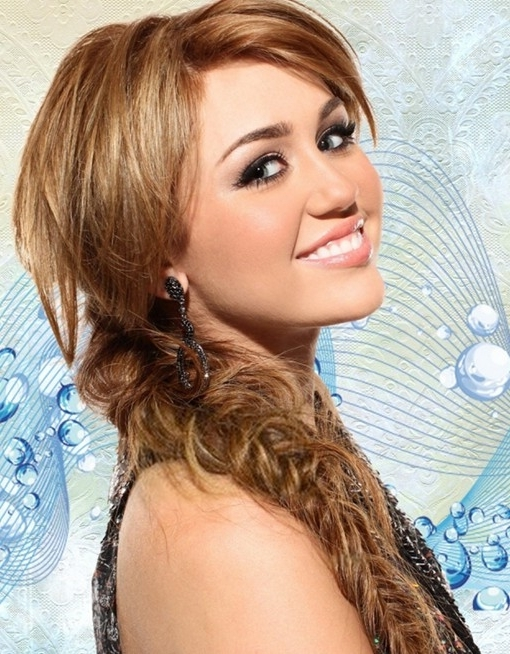 Messy Braid Hairstyles For Long Hair: Miley Cyrus Hair – Popular With Regard To Most Recent Messy Braid Hairstyles (View 8 of 15)