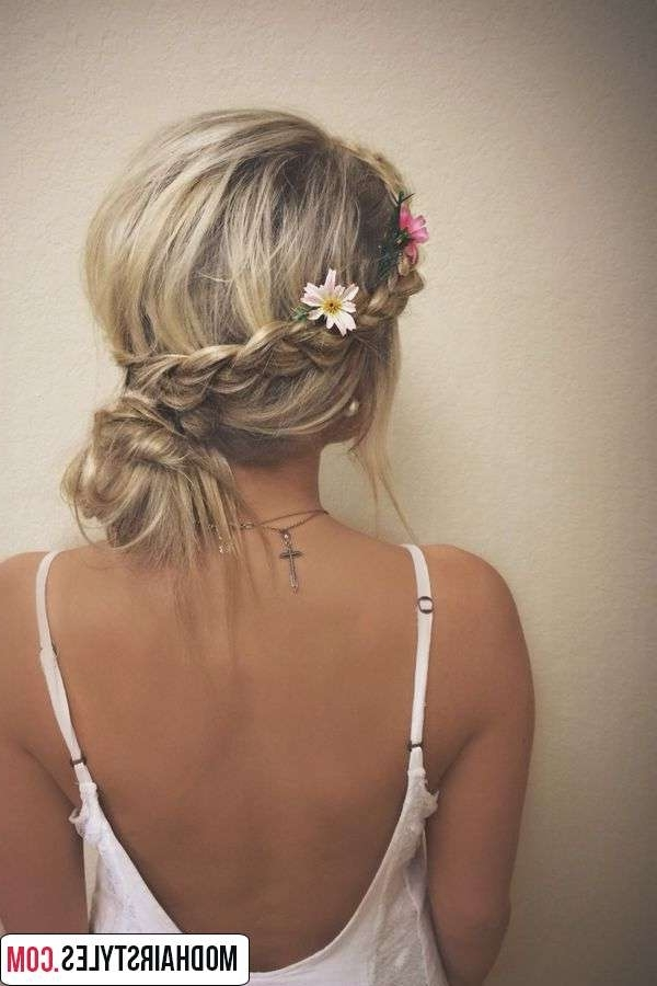 Messy Bun Hairstyles For Most Recently Messy Bun Braided Hairstyles (View 6 of 15)