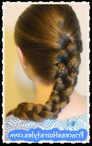 Micro Braid Lattice Wrap Hairstyle – Hairstyles For Girls – Princess Intended For Most Recently Lattice Weave With High Braided Ponytail (View 4 of 15)