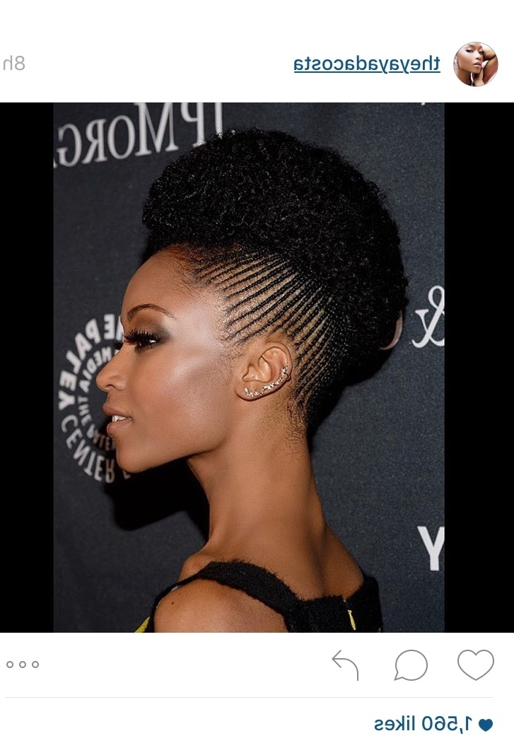 Micro Cornrows Are Making A Comeback And Yaya Dacosta Is Slaying In Recent Micro Cornrows Hairstyles (View 3 of 15)
