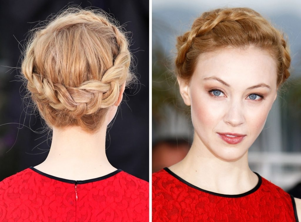 Milkmaid Braid Hairstyles New Year Hairstyle Fashion Trend Milkmaid In Most Recent Milkmaid Braided Hairstyles (View 9 of 15)