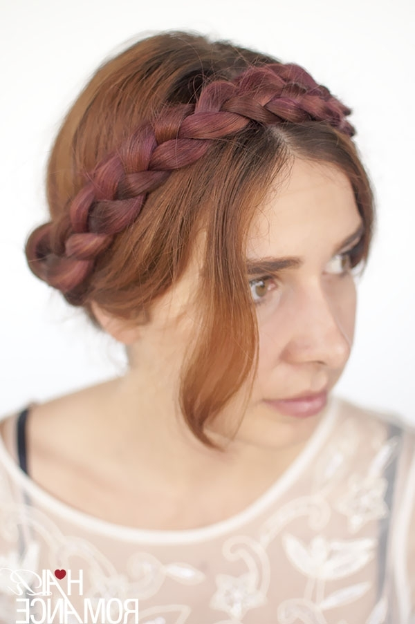 Modern Milkmaid Braids Hairstyle Tutorial – Hair Romance Within Most Recently Milkmaid Braided Hairstyles (View 2 of 15)
