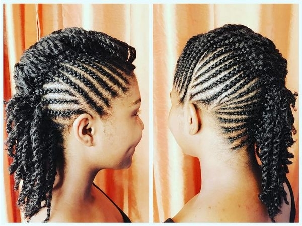 Mohawk Braid Hairstyles, Black Braided Mohawk Hairstyles For Best And Newest Chunky Mohawk Braid With Cornrows (View 11 of 15)