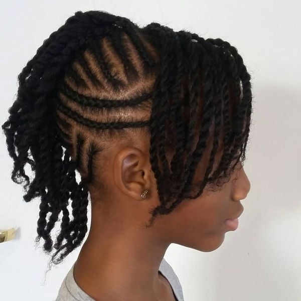 Mohawk Braid Hairstyles, Black Braided Mohawk Hairstyles Throughout Recent Braided Hairstyles In A Mohawk (View 9 of 15)