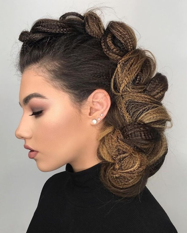 Mohawk Braid Hairstyles, Black Braided Mohawk Hairstyles With Best And Newest Braided Hairstyles For Dark Hair (View 3 of 15)