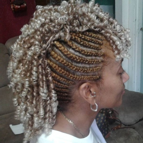 Mohawk Braid Hairstyles, Black Braided Mohawk Hairstyles Within Latest Cornrow Mohawk Hairstyles Hair (View 14 of 15)