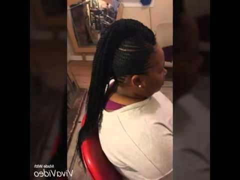 Mohawk Cornrows With Braids In The Middle – Youtube Inside Current Mohawk With Criss Crossed Braids (View 14 of 15)
