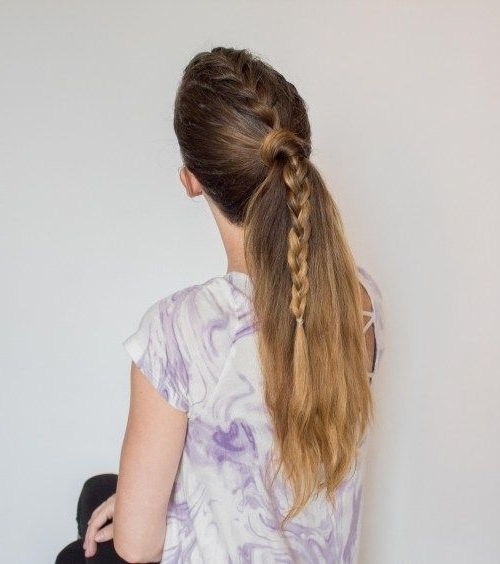 Mohawk French Braid Ponytail | Loose French Braid Hairstyles Ideas Within Recent Mohawk French Braid Ponytail Hairstyles (View 13 of 15)