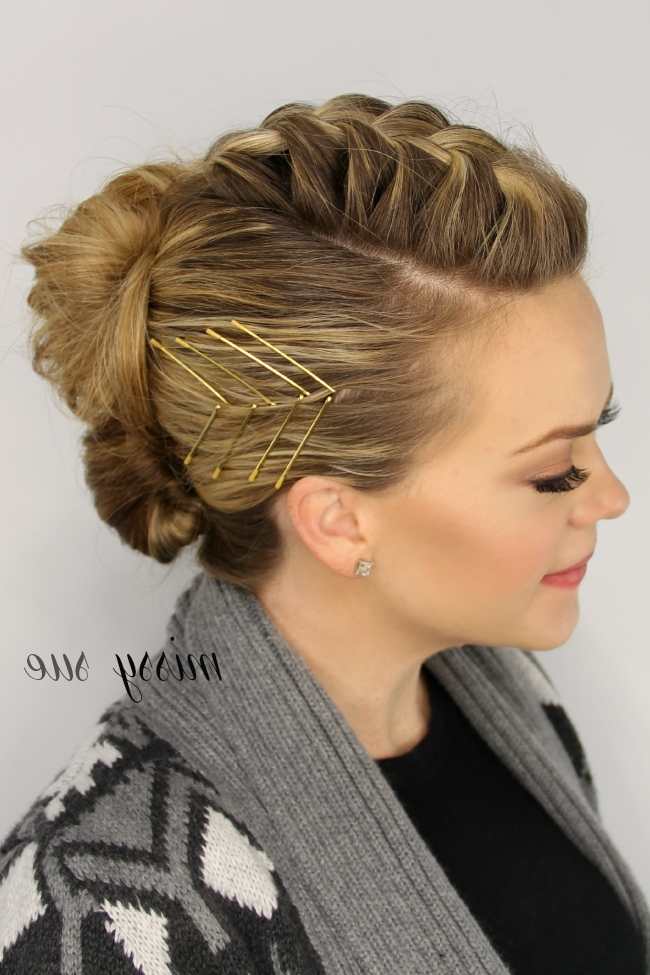 Mohawk French Braid Updo | Hair And Makeup | Pinterest | French For Most Up To Date Mohawk French Braid Hairstyles (View 2 of 15)