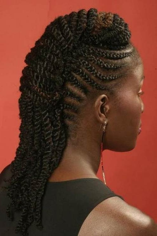 Mohawk Hairstyles For Black Women – Top 10 Mohawk Hairstyles For With Regard To Most Up To Date Cornrow Mohawk Hairstyles Hair (View 15 of 15)