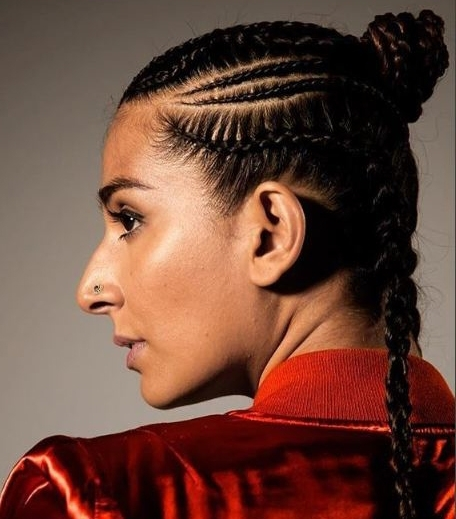 Monica Dogra's Intricate Boxer Braids Are So Badass | Hauterfly Intended For Best And Newest Intricate Boxer Braids Hairstyles (View 14 of 15)