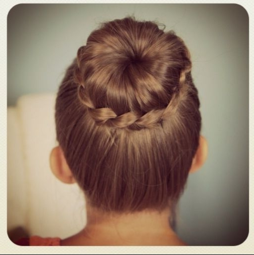 My Daughter Choice For Her Dance Recital Hair!!! Can't Wait Inside Current Braided Hairstyles For Dance Recitals (View 2 of 15)