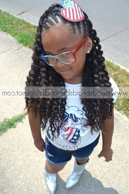 Natural Black Twisted Hairstyles Girl Kids | And Beyond: Easter in Most Recently Easter Braid Hairstyles