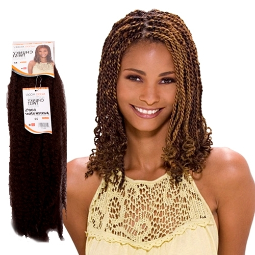 Natural Chunky Jamaican Twist Braid Marley Braid - Model Model pertaining to Most Recently Jamaican Braided Hairstyles