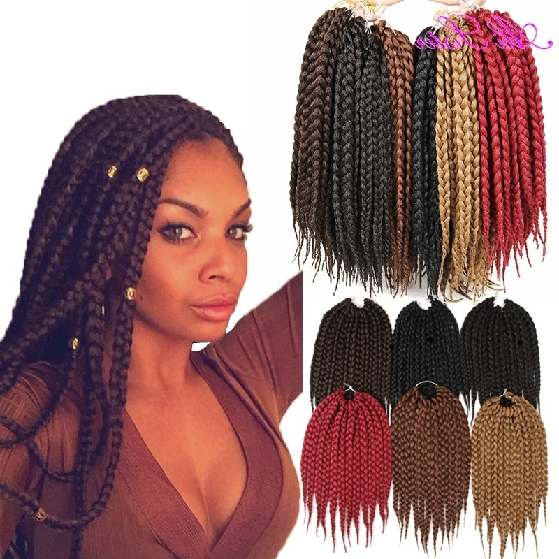 Natural Color Box Braids Hair Expression Braiding Hair Crochet Box With Newest Braided Hairstyles With Color (View 2 of 15)