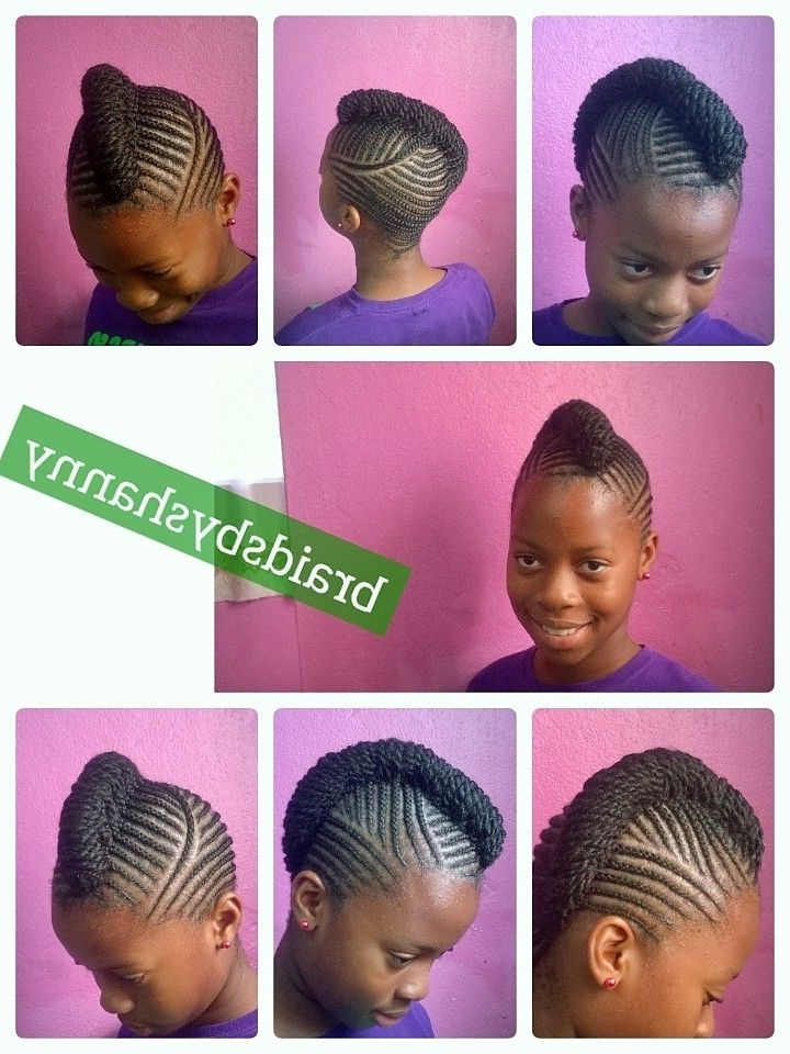 Natural Hair Braided Without Extension | Braids | Pinterest intended for Best and Newest Cornrows Hairstyles Without Extensions