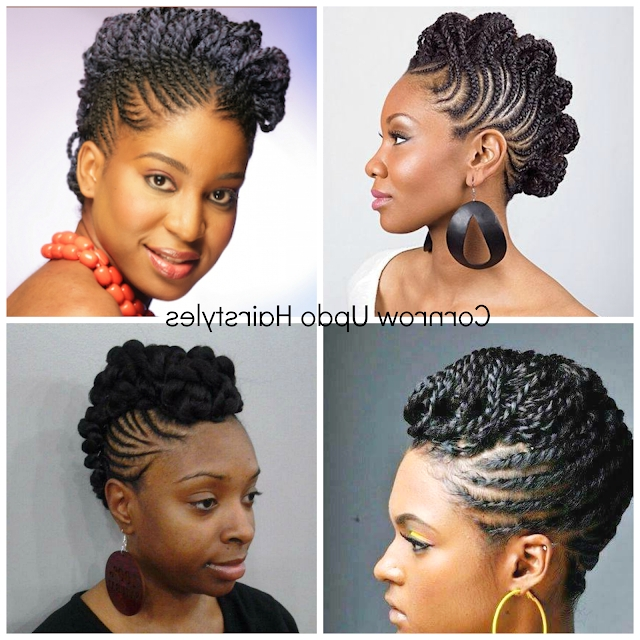 Natural Hair Cornrow Updos E Of The Dopest Protective Modern Of For Most Up To Date Natural Updo Cornrow Hairstyles (View 13 of 15)