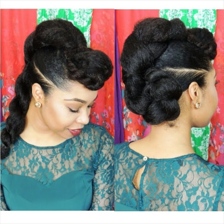 """Natural Hair Protective Hairstyle """"twist'n'bun"""" - Youtube pertaining to Most Up-to-Date Jumbo Double-Twisted Updo"""