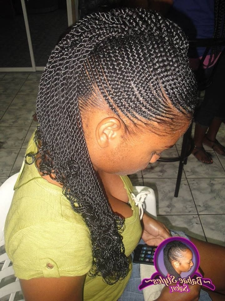 Natural Hair Protective Style: Small Cornrows (Ends Two Strand Twist Inside Newest Mini Cornrows Hairstyles (View 2 of 15)