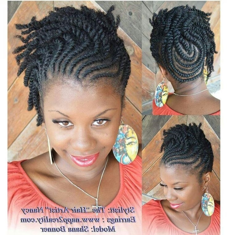Natural Hair Styles Braids Cornrows In Most Recent Natural Updo Cornrow Hairstyles (View 9 of 15)