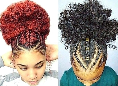 Natural Hair Styles Pictures Unique Unique Braided Updo Hairstyles regarding Most Recent Braided Updo Hairstyles For Short Natural Hair