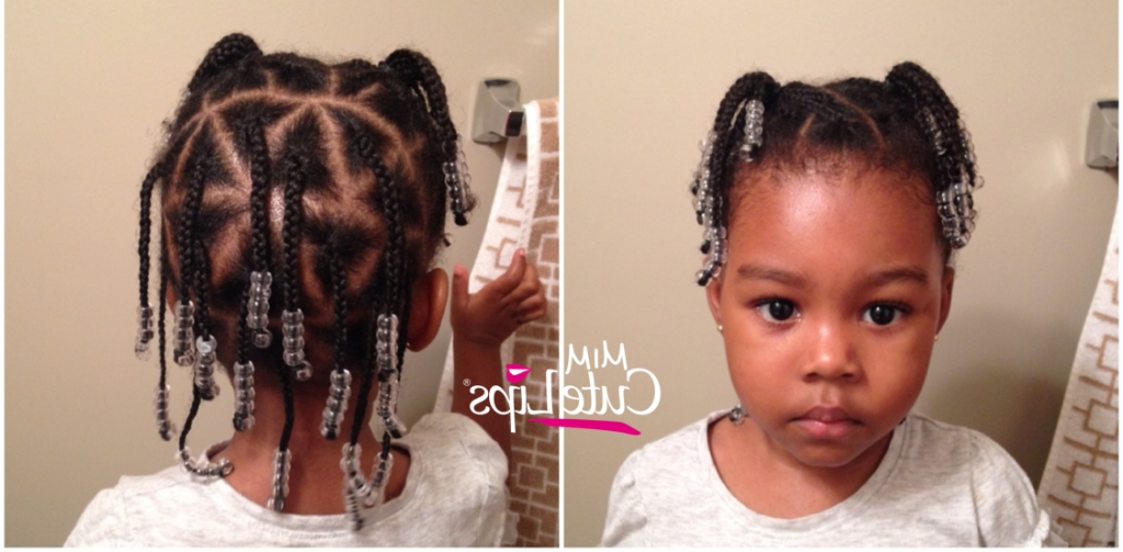 Natural Hairstyles For Kids - Mimicutelips inside Most Recently Toddlers Braided Hairstyles
