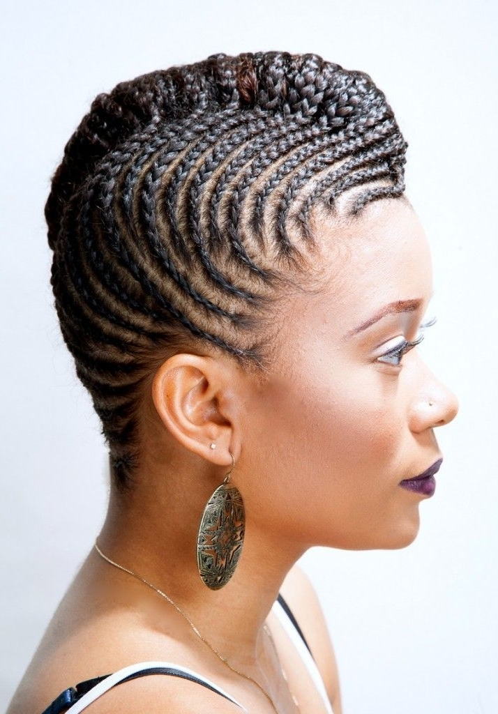 Natural Hairstyles For Work : Natural Cornrow For Work. Description regarding Newest Cornrows Hairstyles For Work