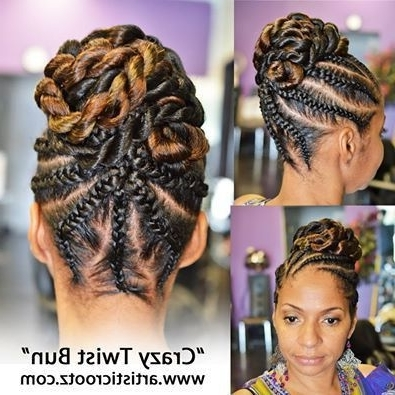 Need A Cute Protective Style? - 18 Flat Twist Updo Styles You Should within Newest Jumbo Double-Twisted Updo