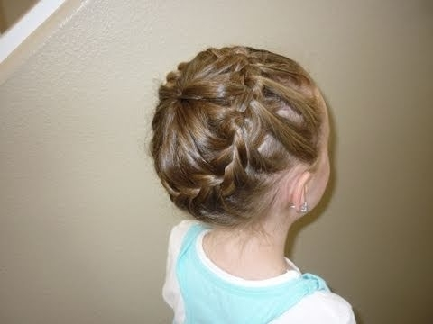 Never Ending French Braid Bun - Youtube intended for Most Recently French Braids Into Braided Buns