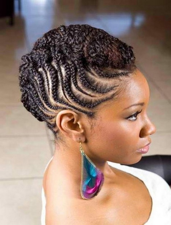 New African Cornrows Hairstyles 2015 For Graduation Intended For Most Recent Cornrow Hairstyles For Graduation (View 6 of 15)