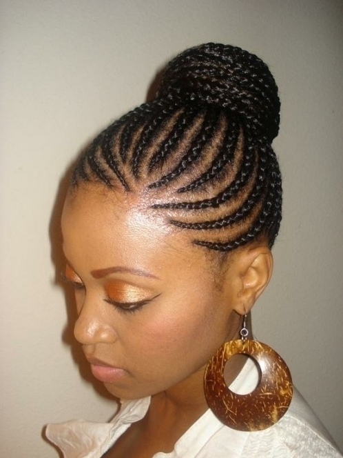 New African Cornrows Hairstyles 2015 For Graduation Regarding within Recent Cornrow Hairstyles For Graduation