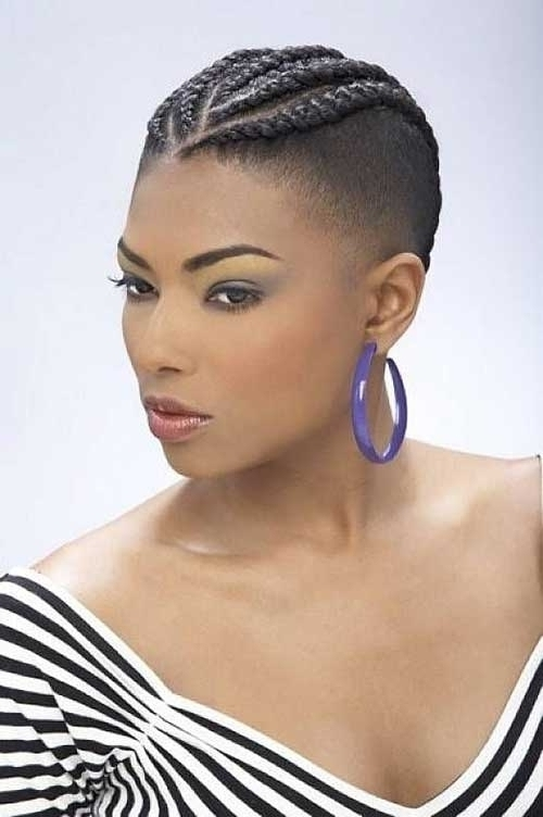 New African Cornrows Hairstyles 2015 Thin Hair Within Newest Cornrows Short Hairstyles (View 13 of 15)