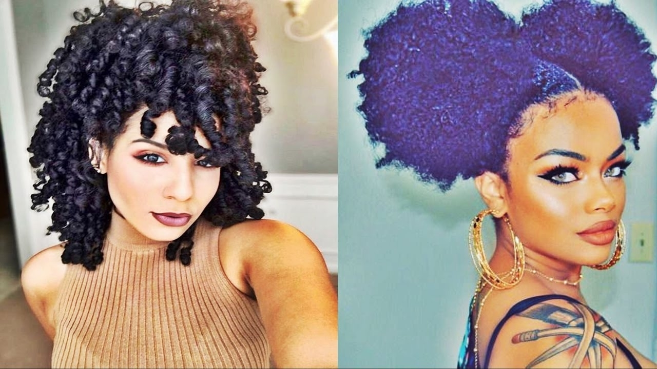 New Beautiful Short Curly Hairstyles For Black Women 2017 - Youtube within Newest Short Black Hairstyles For Curly Hair