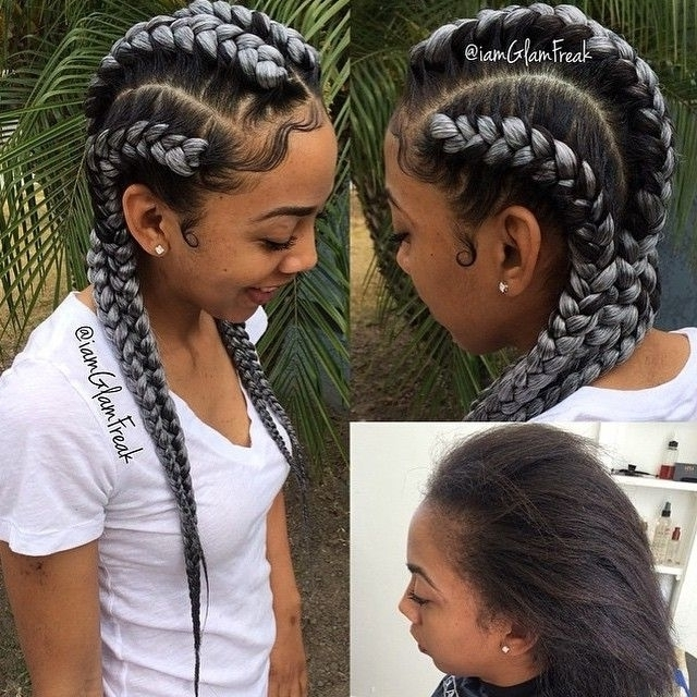 New Black Cornrow Hairstyles 2015 Jumbo Tron Movie in Most Recent Cornrows Hairstyles With Extensions