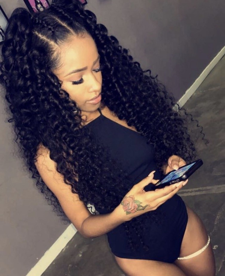 New Braided Hairstyles With Curly Weave – Life Style Info With Best And Newest Braided Hairstyles With Curly Weave (View 3 of 15)