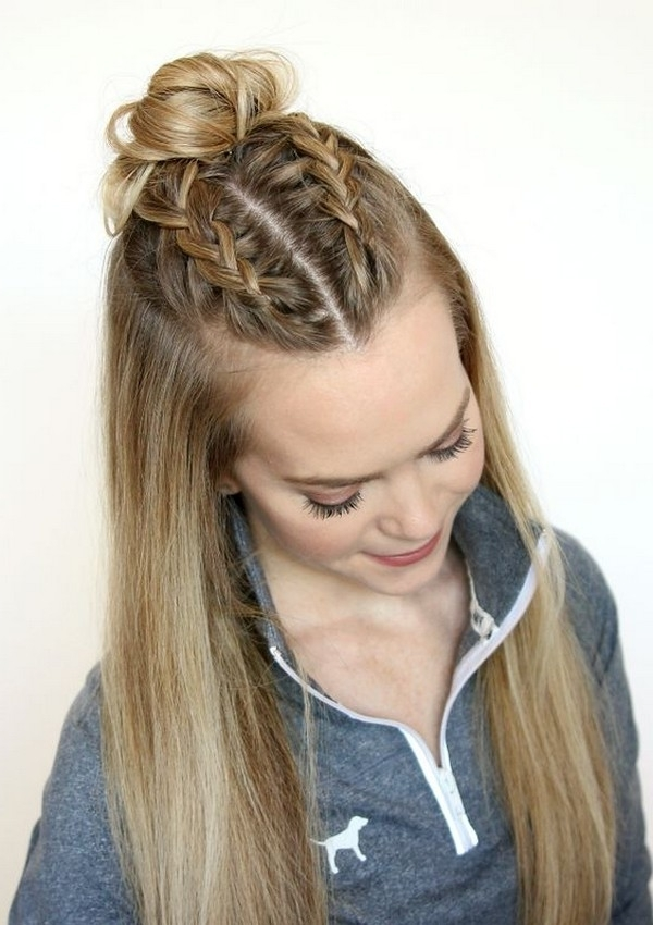 New-Party-Wedding-Hairstyles-Girls-Pony-Tail-Loose-Curls-French inside Current French Braid Hairstyles With Curls