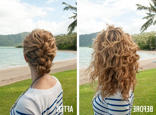 New Video Tutorial: Tucked French Braid Updo In Curly Hair - Hair regarding Most Popular French Braid Hairstyles With Curls
