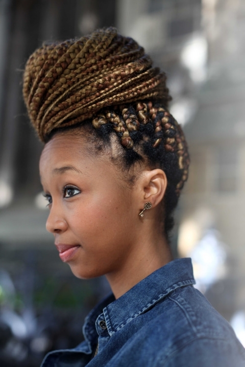 Nice Big Bun With Braids In Cape Town, South Africa pertaining to Most Up-to-Date South African Braided Hairstyles