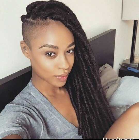 Now Trending – Braids & Twists With Shaved Sides – The Style News pertaining to Most Recently Braided Hairstyles With Shaved Sides