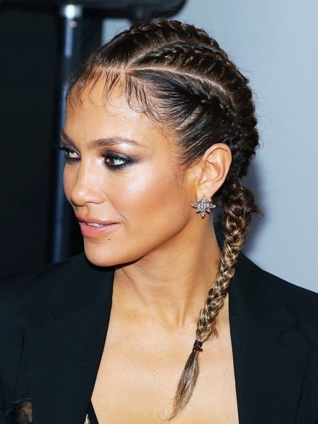 Now Trending: The Sporty Hairstyle That Celebs And Instagrammers with Newest Jennifer Lopez Braided Hairstyles