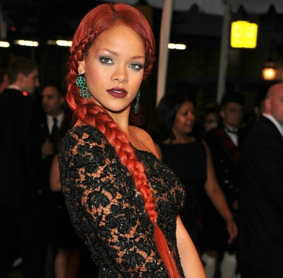 Oh No No: 10 Worst Rihanna Hairstyles (Photo Gallery): Rihanna-Braid for Most Current Rihanna Braided Hairstyles