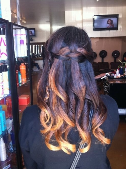 Ombre And Waterfall Braid | Hair | Pinterest | Ombre, Double inside Newest Cornrows Enclosed By Headband Braid Hairstyles