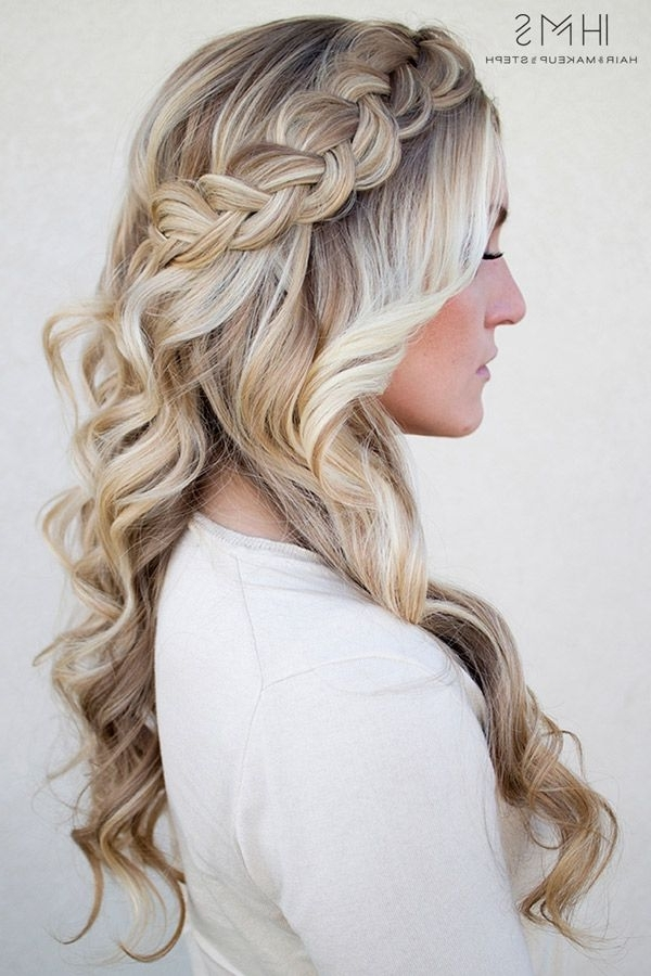 One On One Class | Hairstyles | Pinterest | Beautiful Braids, Hair Intended For 2018 Half Updo With Long Freely Hanging Braids (View 15 of 15)