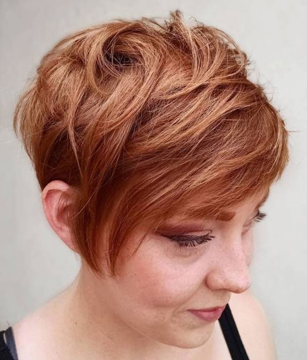 Overwhelming Short Choppy Haircuts For 2018-2019 (Bob+Pixie Hair pertaining to 2018 Brunette Pixie With Feathered Layers