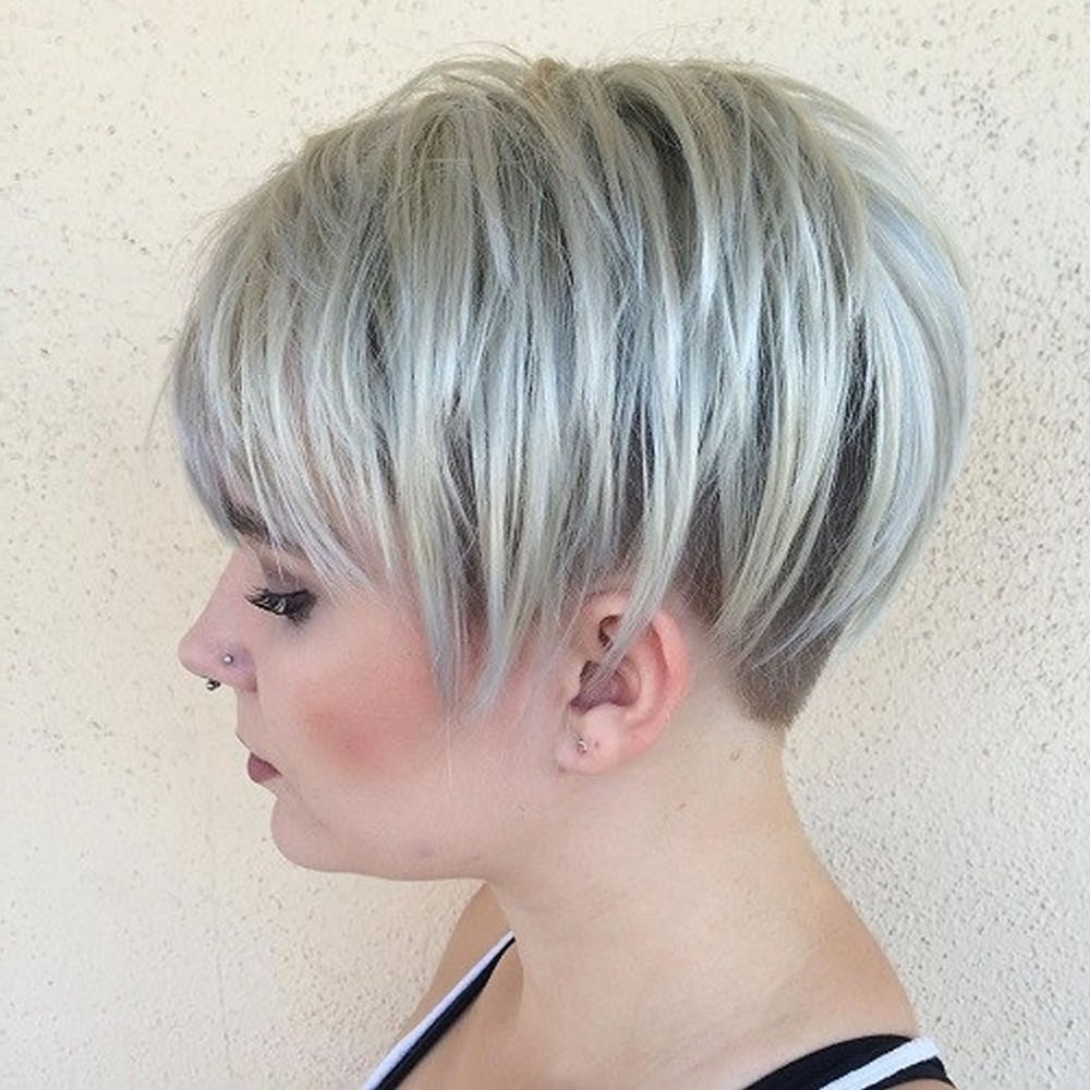 Overwhelming Short Choppy Haircuts For 2018-2019 (Bob+Pixie Hair pertaining to Most Up-to-Date Choppy Gray Pixie Haircuts