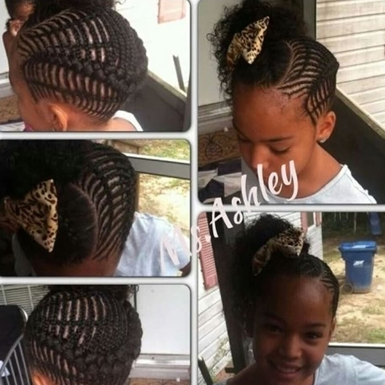 Perfect African Braided Updos For Little Black Girls – Hairstyles Pertaining To Most Current Braided Hairstyles For Little Black Girls (View 11 of 15)