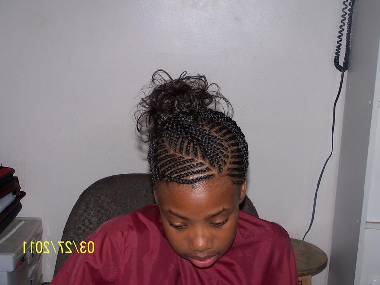 Photo Gallery Throughout Most Up To Date Cornrows Hairstyles With Swoop (View 2 of 15)