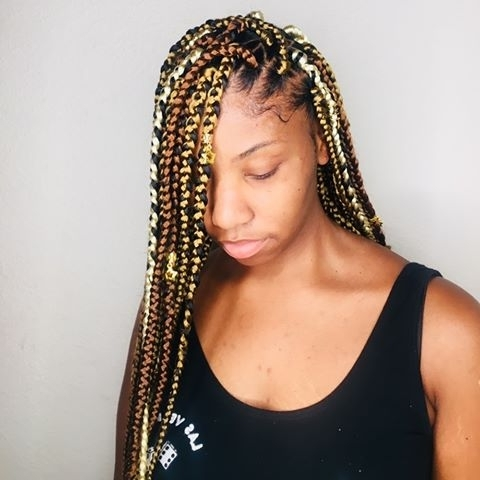 Photos About #lasvegasbraider On Instagram Inside Recent Geometric Tribal Fulani Pattern Braids With Curly Wisps (View 15 of 15)