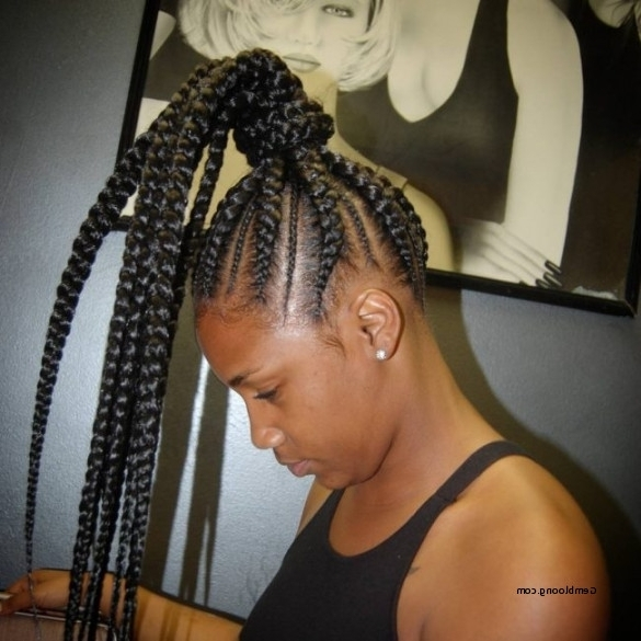 Pictures: Cornrow Braided Ponytail Hairstyle, – Hairstyle Cuts Ideas In Most Current Cornrows Ponytail Hairstyles (View 8 of 15)
